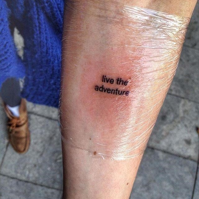 Live The Adventure Travel Quote Tattoo