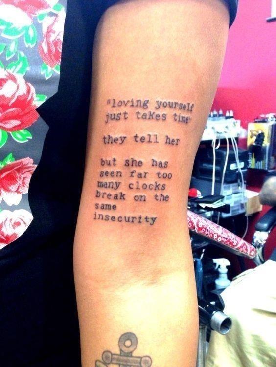 Long Self Love Tattoos