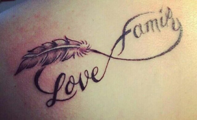 Love Family Infinity Tattoo
