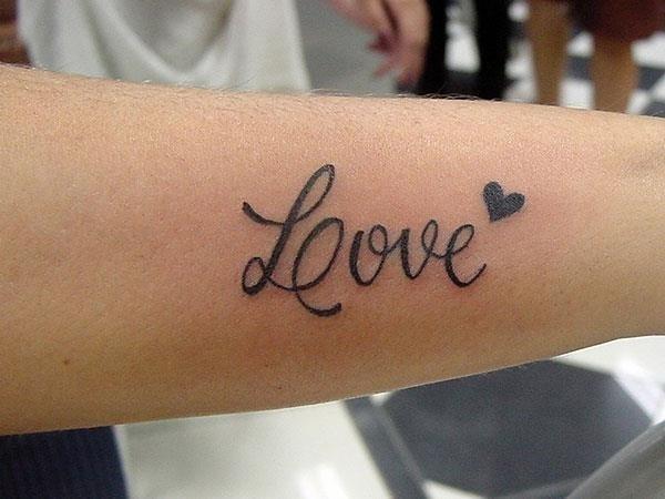 Love Tattoo On Arm