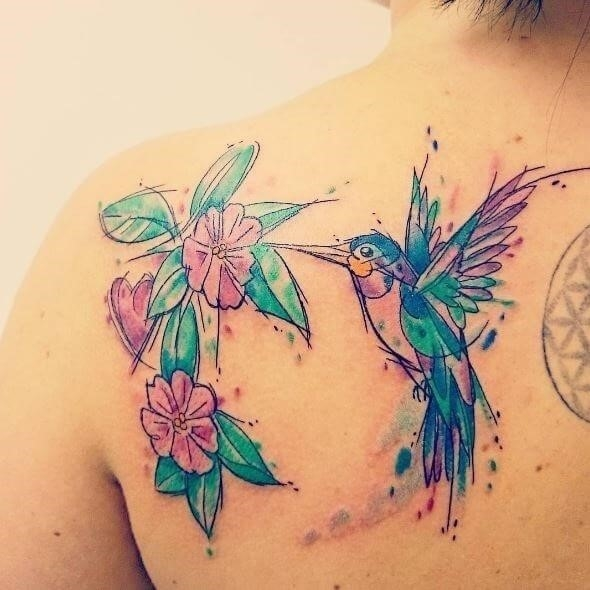 Lovely and Beautiful Hummingbird Tattoos Design