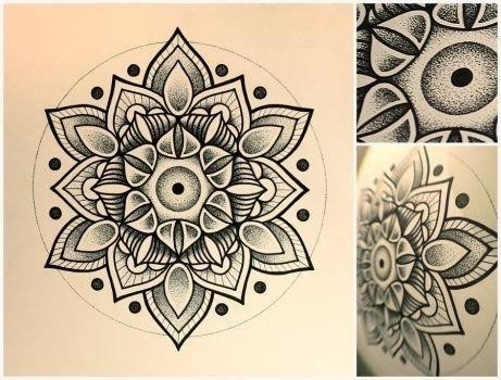 Mandala Flower Eye Tattoo Design