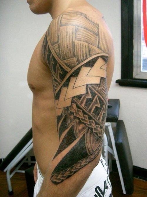 Maori Arm Tattoos For Men