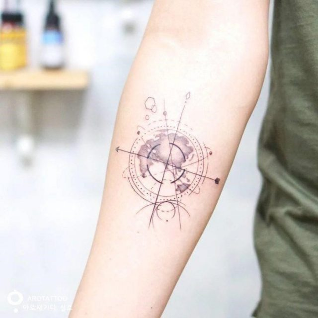 Map of The World Tattoo by Silo 728×728