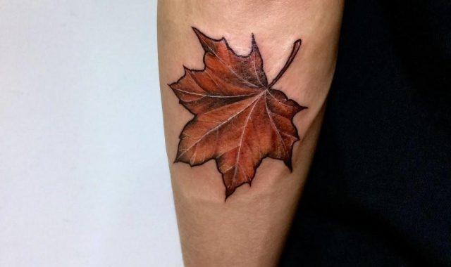 Maple Leaf Arm Tattoo
