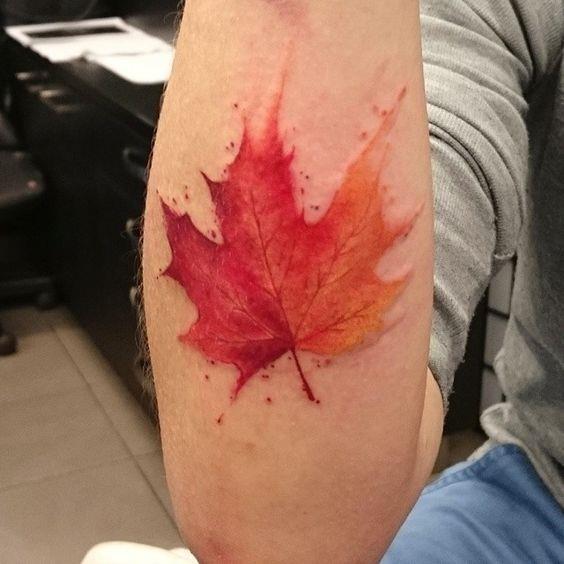 Maple Leaf Tattoos for Autumn 2016 1