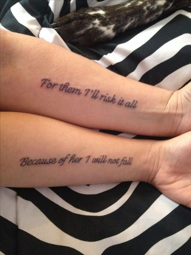 Matching Mother and Son Tattoos