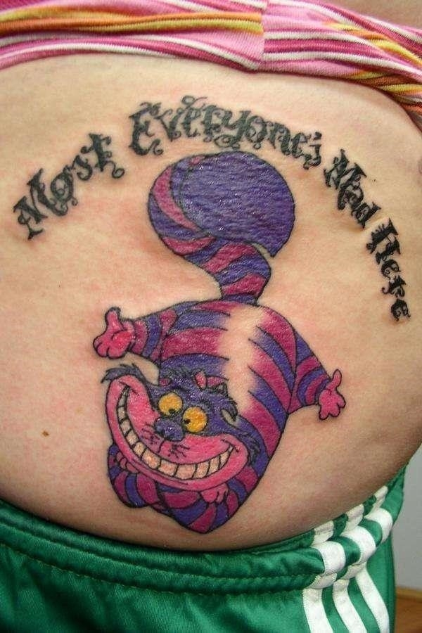 Most Everyones Mad Here Cheshire Cat Tattoo