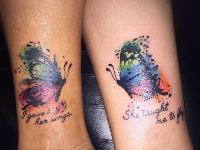 Mother Daughter Tattoo Design 10