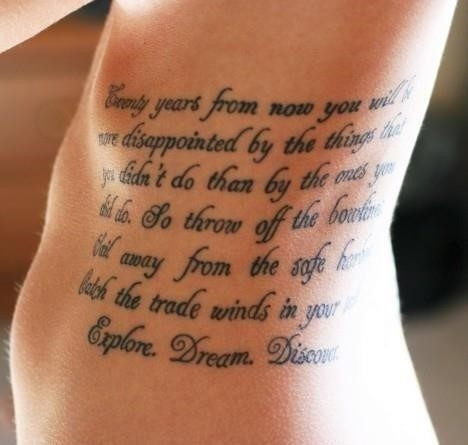 Mother Son Quotes Tattoos On Rib Side 1