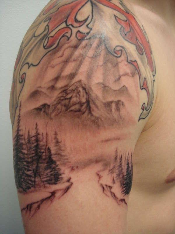 Mountain Scene tattoo 36142