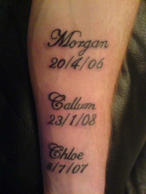 Names tattoo 64920