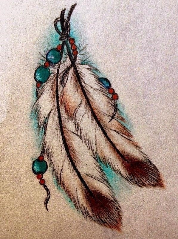 Native Feather Tattoos Design