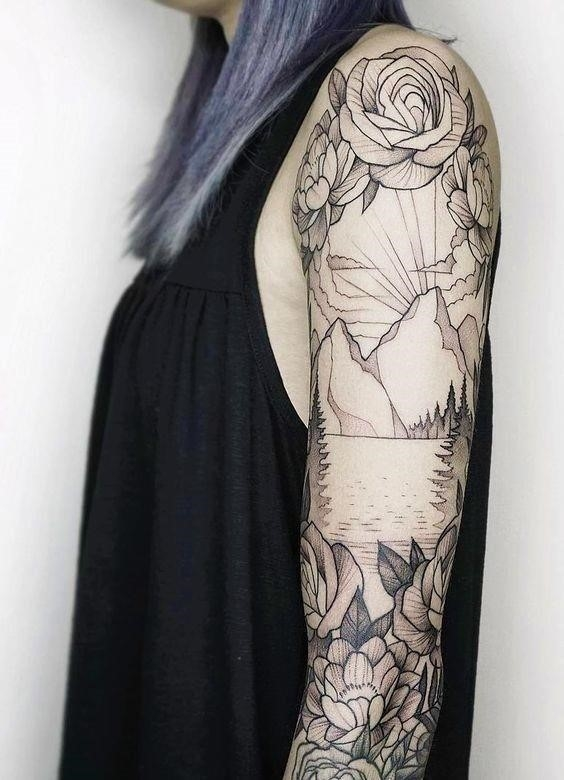 Nature Sleeve Tattoos For Women