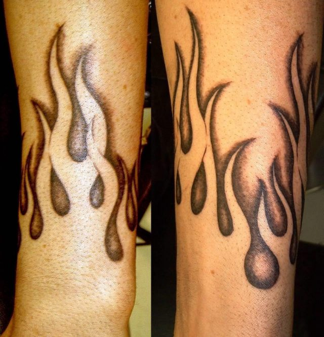 Negative Flames Tattoo By Furious247