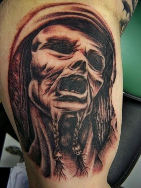 Old Viking Tattoo On Bicep