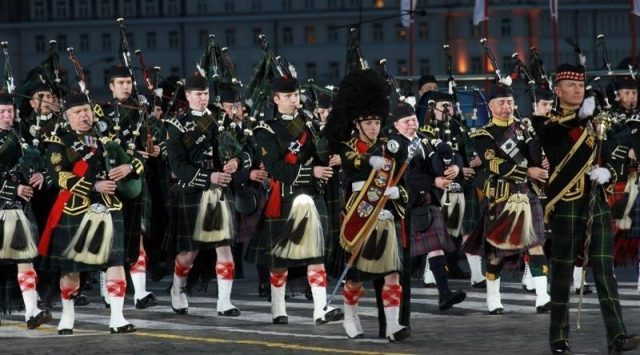 Picture of Military Tattoo Bagpipers