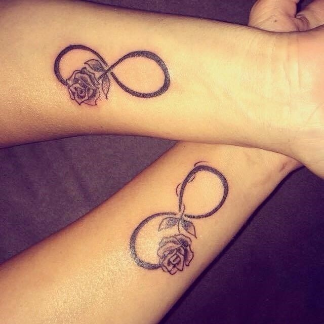 Pictures of Matching Rose Tattoos