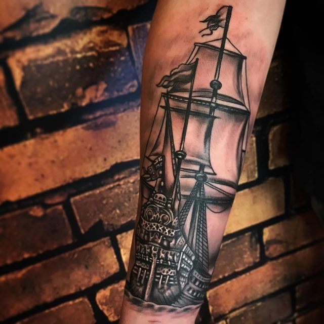 Pirate Ship Tattoo  1