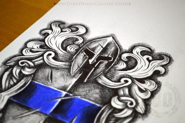 Police Badge Tattoo Design