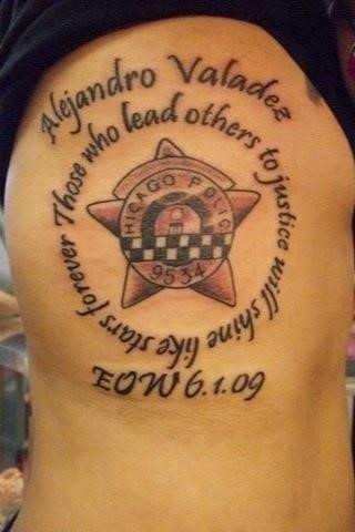 Police Officer Tattoo