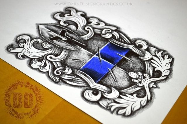 Police Tattoo Design