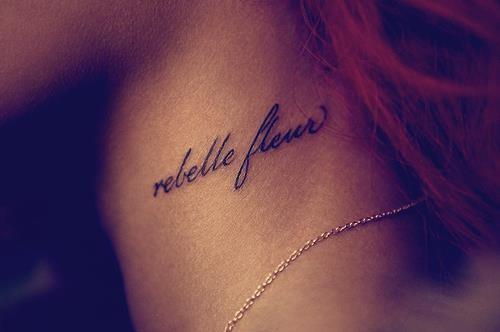 Quote Tattoo On Neck