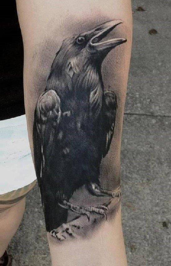 Raven Tattoos Raben Idea 003