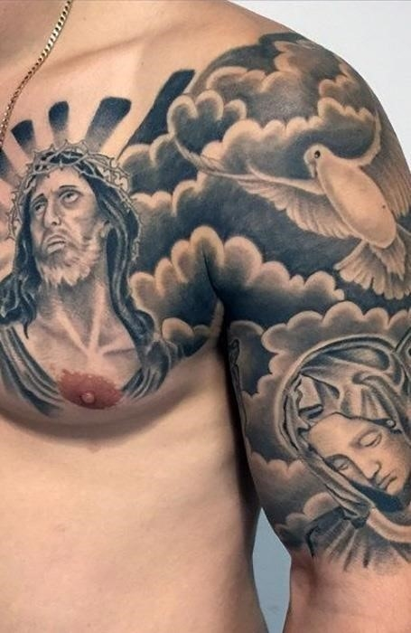 Religious Shoulder Tattoo
