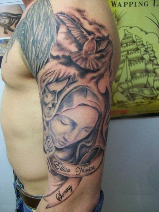 Religious Sleeve Tattoos