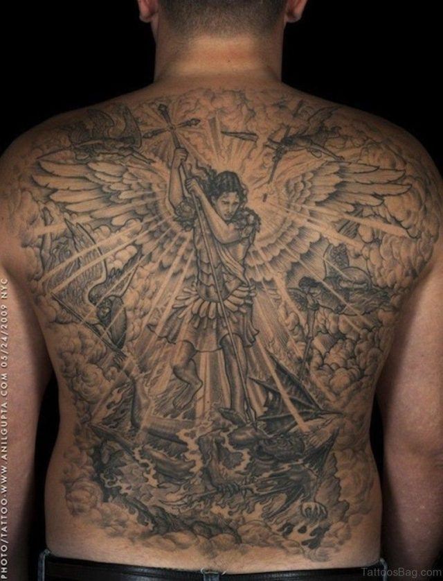 Religious Tattoo On Full Back Tb1113