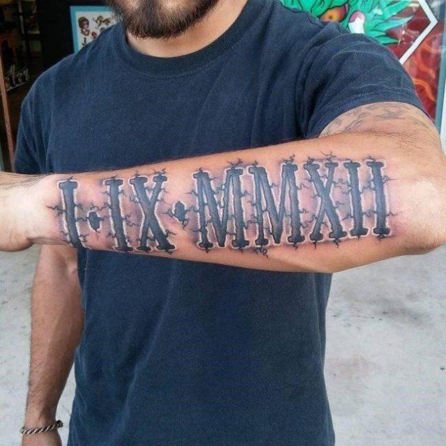 Roman Numeral Tattoo 59 650×650