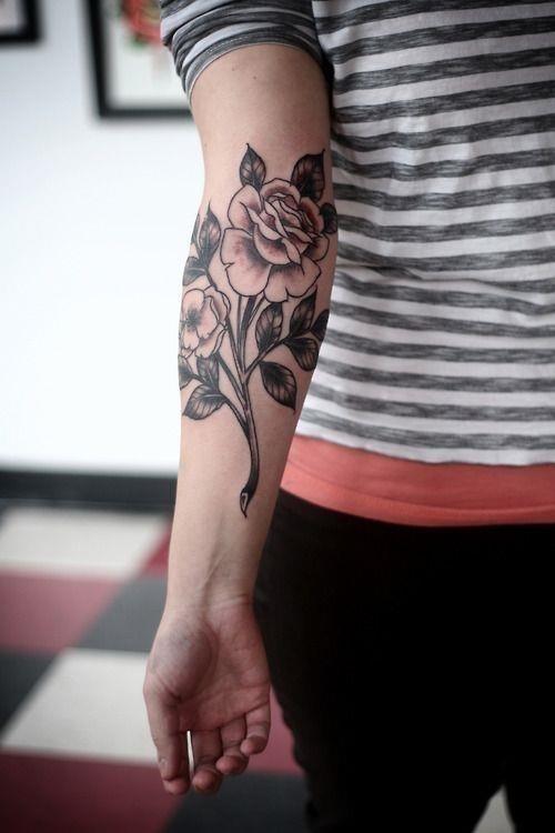 Rose Forearm Tattoo