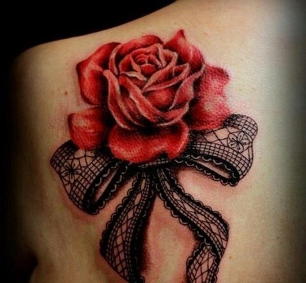 Rose Tattoo Designs for Girls40
