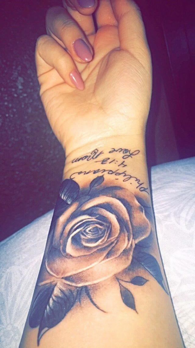 Rose Tattoo Designs for Wrist