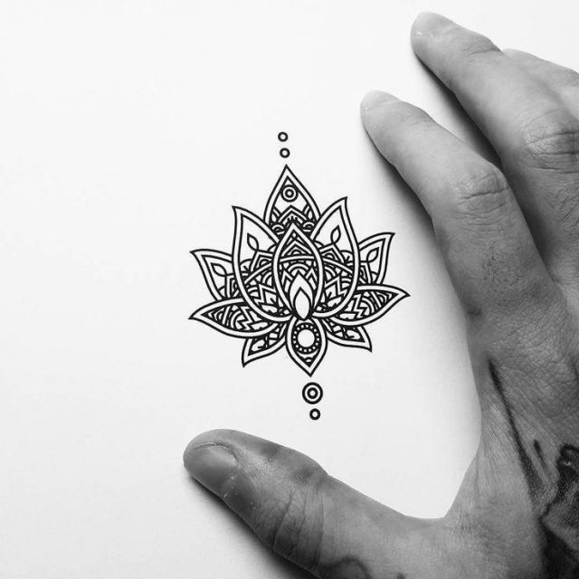 SMall Mandala Tattoo Design