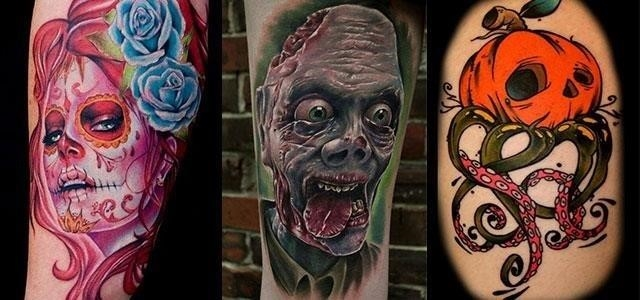 Scary Halloween Themed Tattoo Designs 2013 2014 F