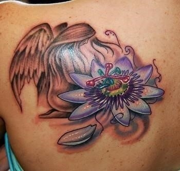 Sexy body girls tattoo bodyartmaster flower angel