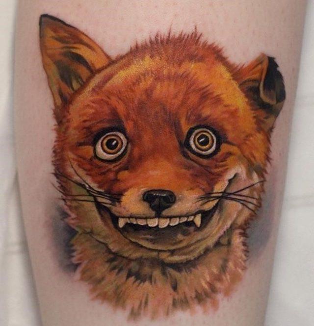 Shaggy Fox tattoo