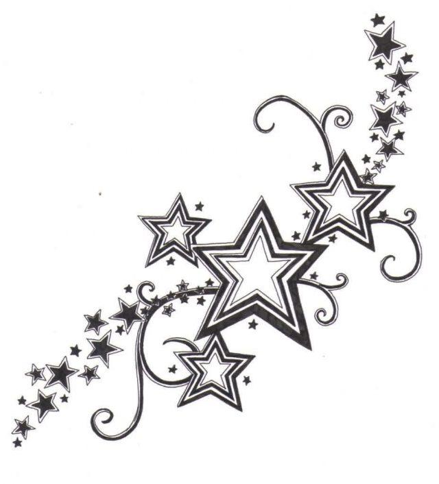 Shooting Star Tattoo Designs 2016 1