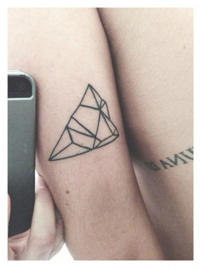 Simple Geometric Mountain Tattoo