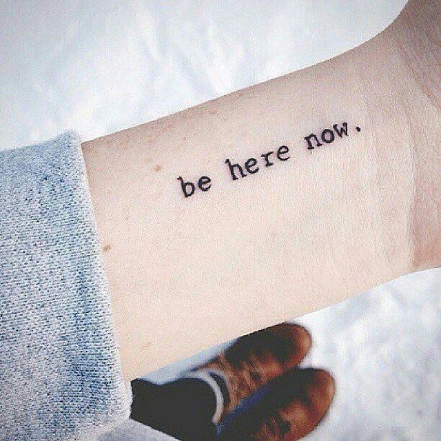 Simple Inspirational Quote Tattoos
