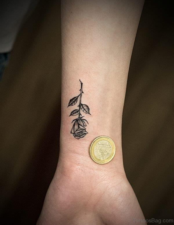 Simple Rose Tattoo Design wr4642 600×775