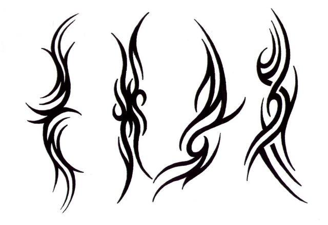 Simple Tribal Tattoos Set