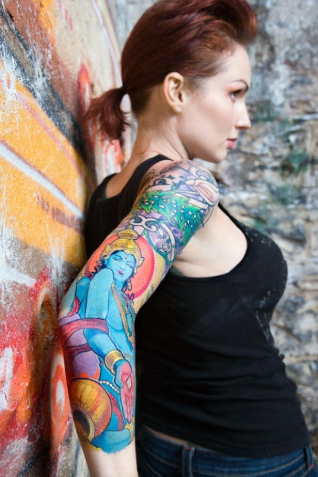 Girl tattoo sleeve
