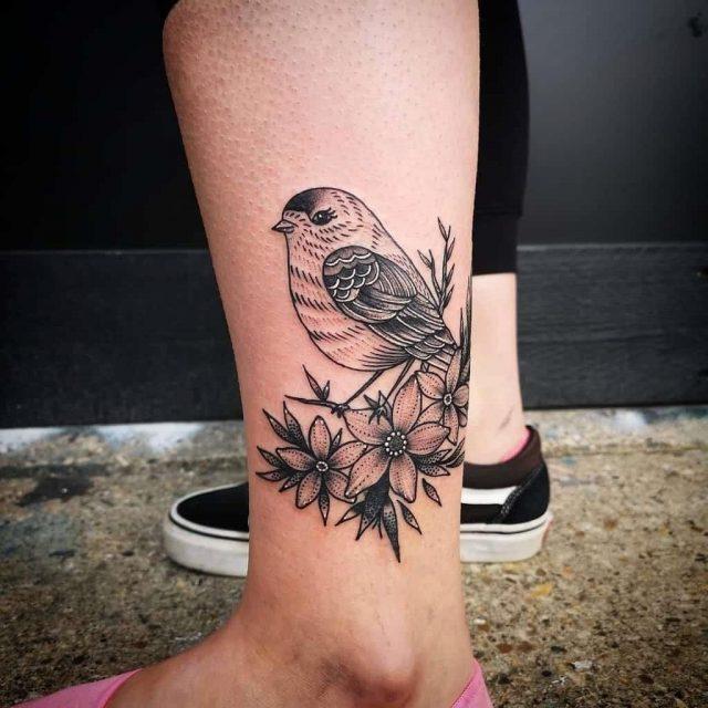 Small Bird Ankle Tattoos ronanfostertattoo
