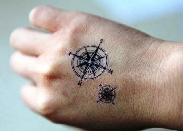 Small Compass Tattoo