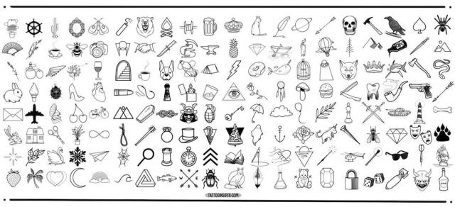 Small Tattoo Design Flash 1