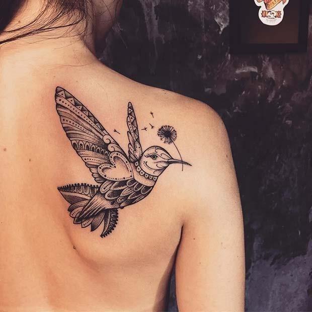 Stunning Hummingbird Tattoo