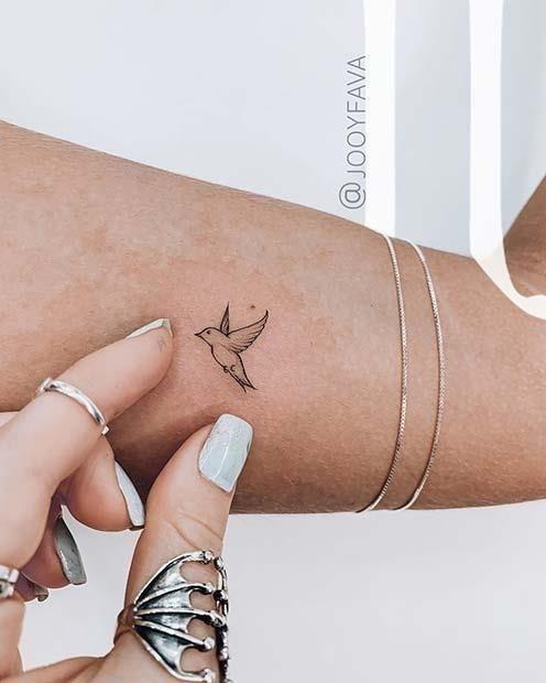 Stunning Small Bird Tattoo